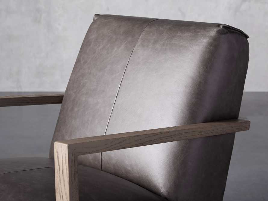 """Walsh Leather 30"""" Glider in Metro Concrete, slide 5 of 7"""
