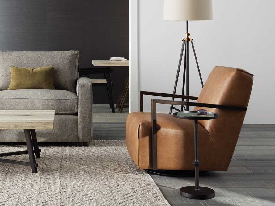 """Walsh Leather 30"""" Glider in Metro Brown, slide 1 of 8"""