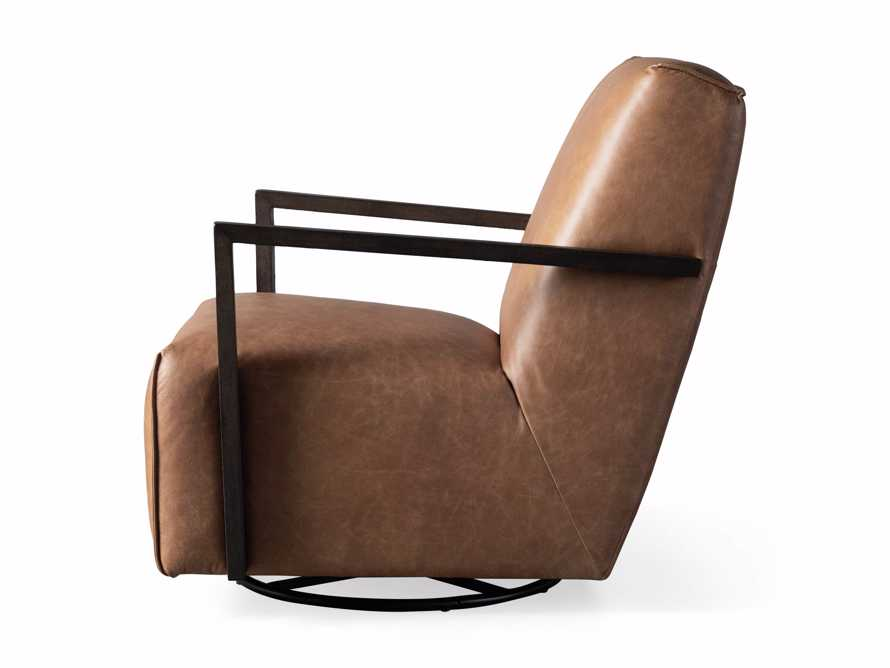 "Walsh Leather 30"" Glider in Metro Brown, slide 9 of 9"