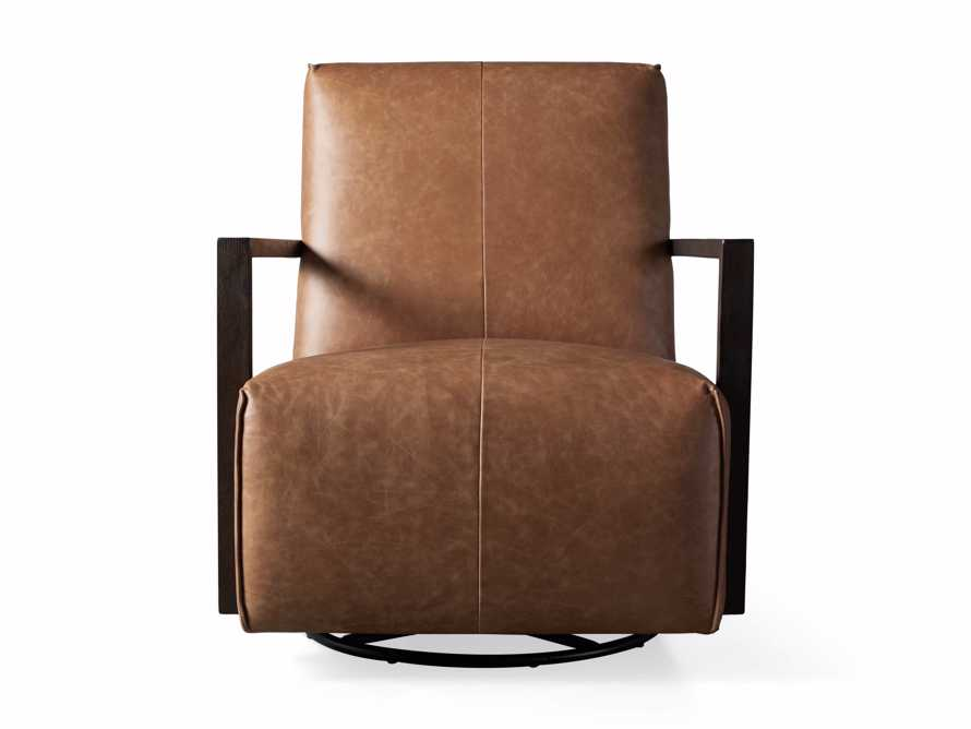 "Walsh Leather 30"" Glider in Metro Brown, slide 8 of 9"