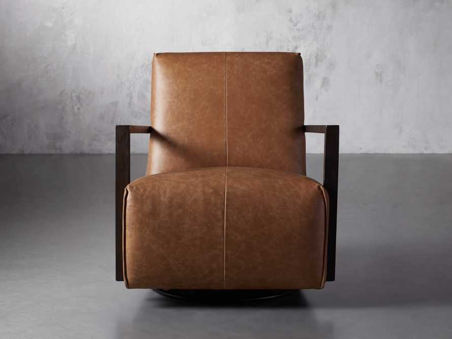 "Walsh Leather 30"" Glider in Metro Brown, slide 1 of 9"