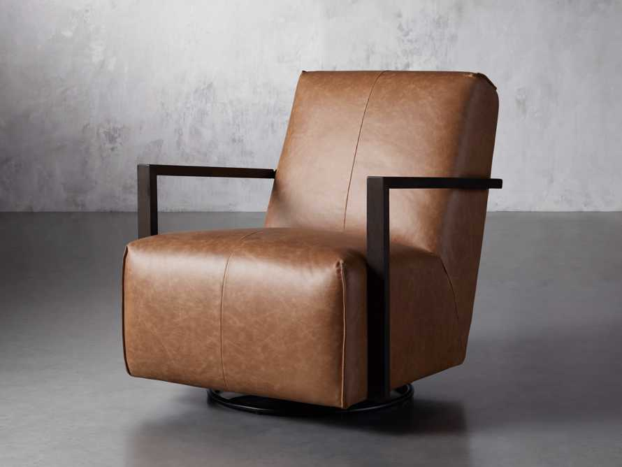 "Walsh Leather 30"" Glider in Metro Brown, slide 2 of 9"