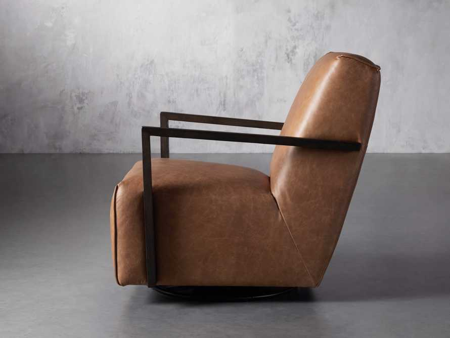 "Walsh Leather 30"" Glider in Metro Brown, slide 3 of 9"