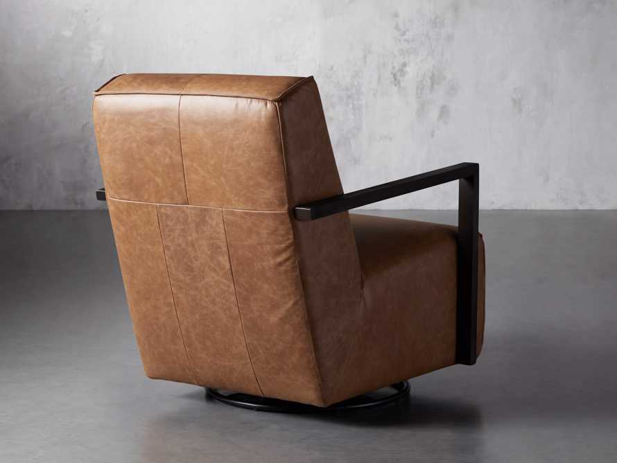 "Walsh Leather 30"" Glider in Metro Brown, slide 4 of 9"
