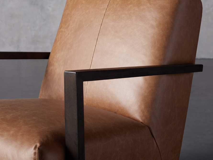 "Walsh Leather 30"" Glider in Metro Brown, slide 5 of 9"