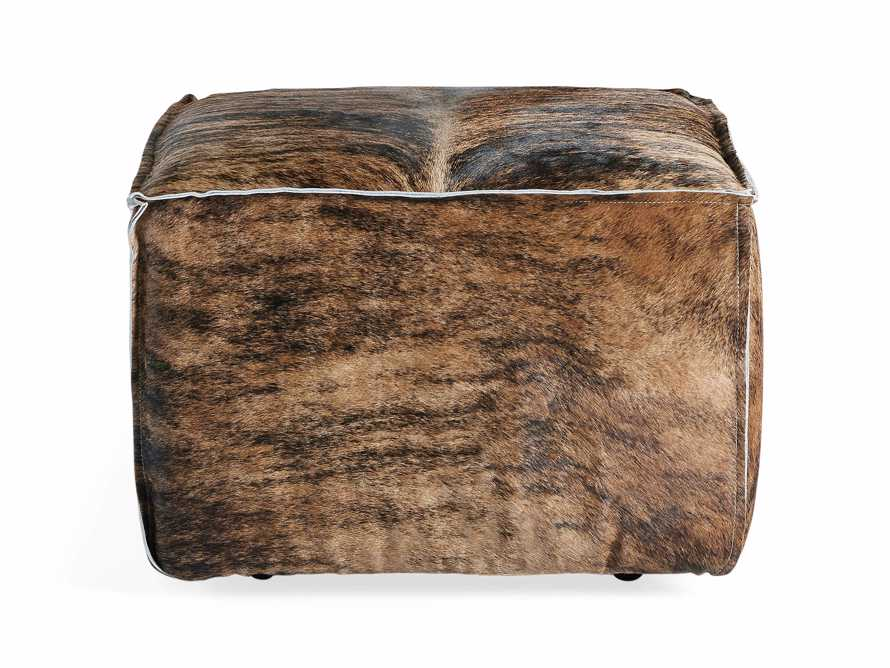"Prairie Leather 25"" Cube Ottoman, slide 1 of 5"