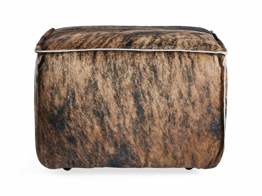 "Prairie Leather 25"" Cube Ottoman, slide 2 of 5"