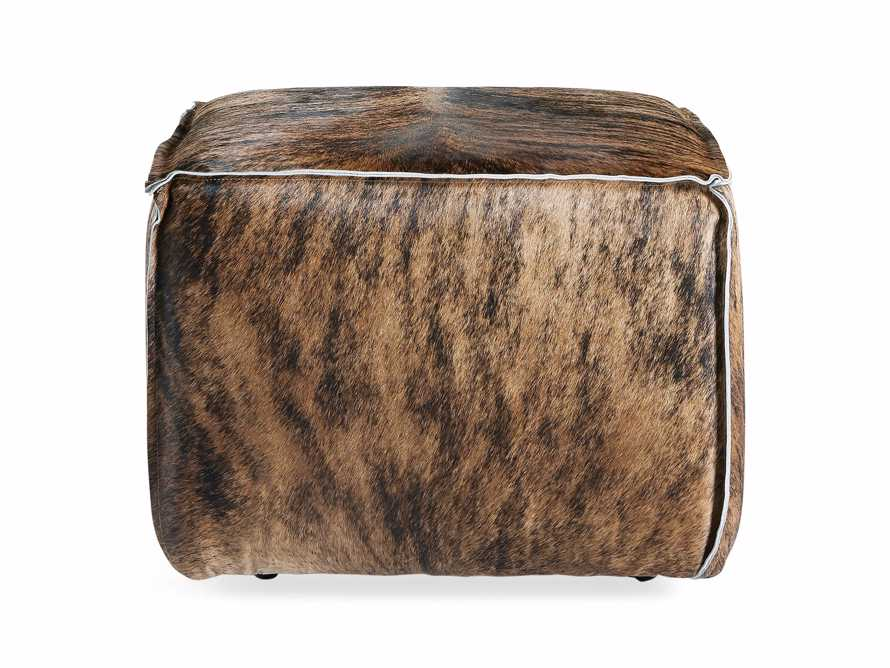 "Prairie Leather 25"" Cube Ottoman, slide 3 of 5"