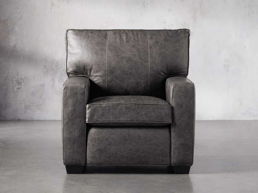 "Brentwood Square Leather 38"" Comfort Motion Recliner, slide 1 of 13"