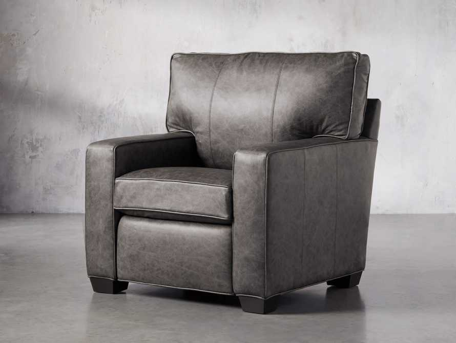 "Brentwood Square Leather 38"" Comfort Motion Recliner, slide 2 of 13"