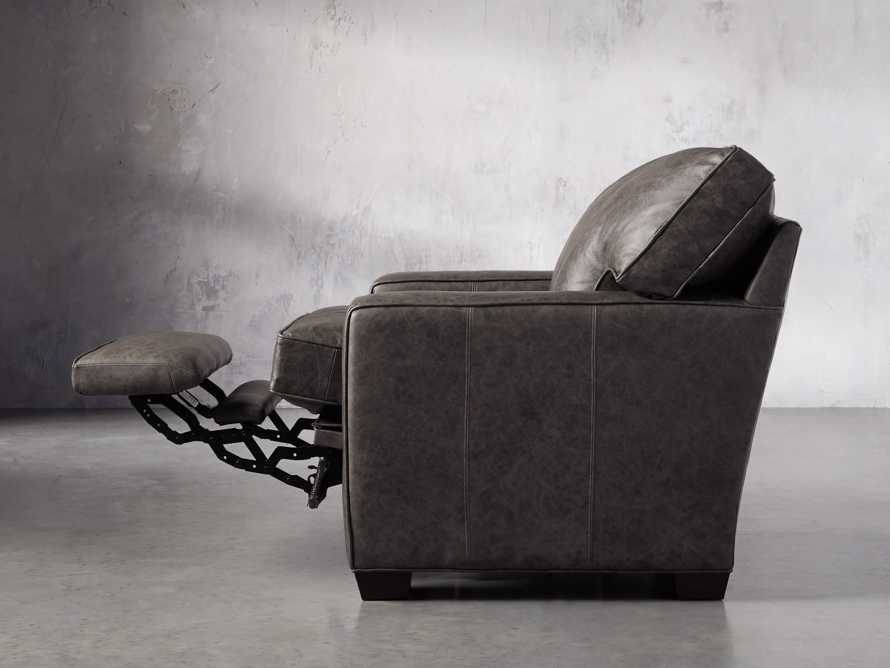 "Brentwood Square Leather 38"" Comfort Motion Recliner, slide 4 of 13"