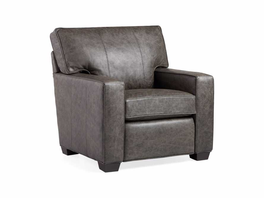 "Brentwood Square Leather 38"" Comfort Motion Recliner"