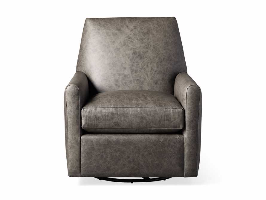 "Harvey Leather 31"" Swivel Glider, slide 6 of 7"