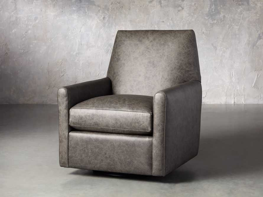 "Harvey Leather 31"" Swivel Glider, slide 2 of 7"