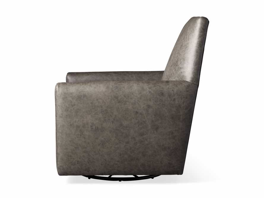 "Harvey Leather 31"" Swivel Glider, slide 7 of 7"