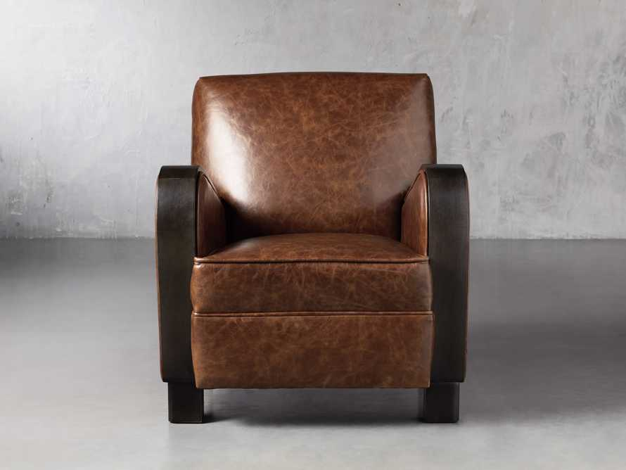 "Delaney Leather 29"" Chair, slide 1 of 8"