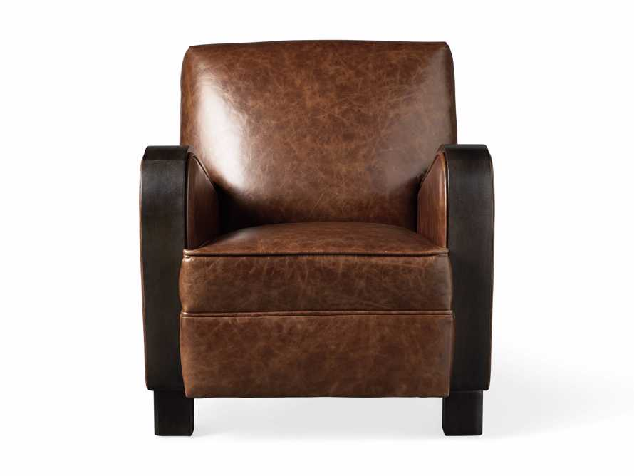"Delaney Leather 29"" Chair, slide 7 of 8"