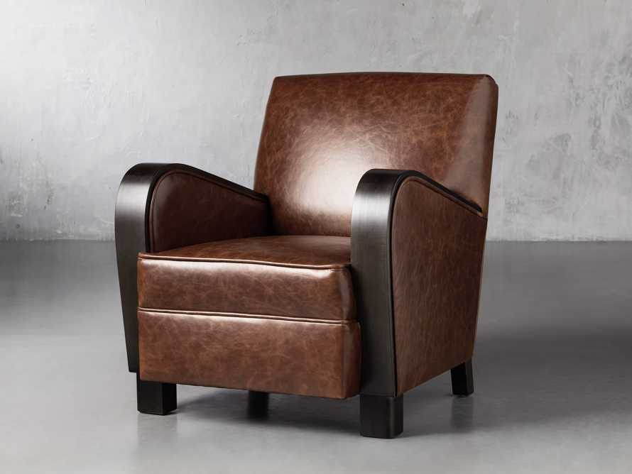 "Delaney Leather 29"" Chair, slide 2 of 8"
