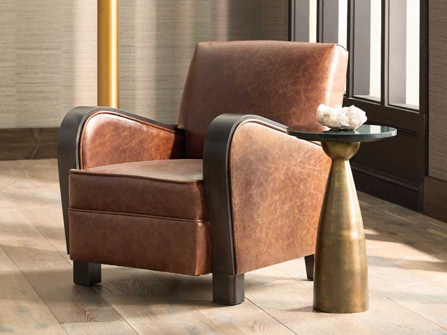 """Delaney Leather 29"""" Chair, slide 1 of 10"""