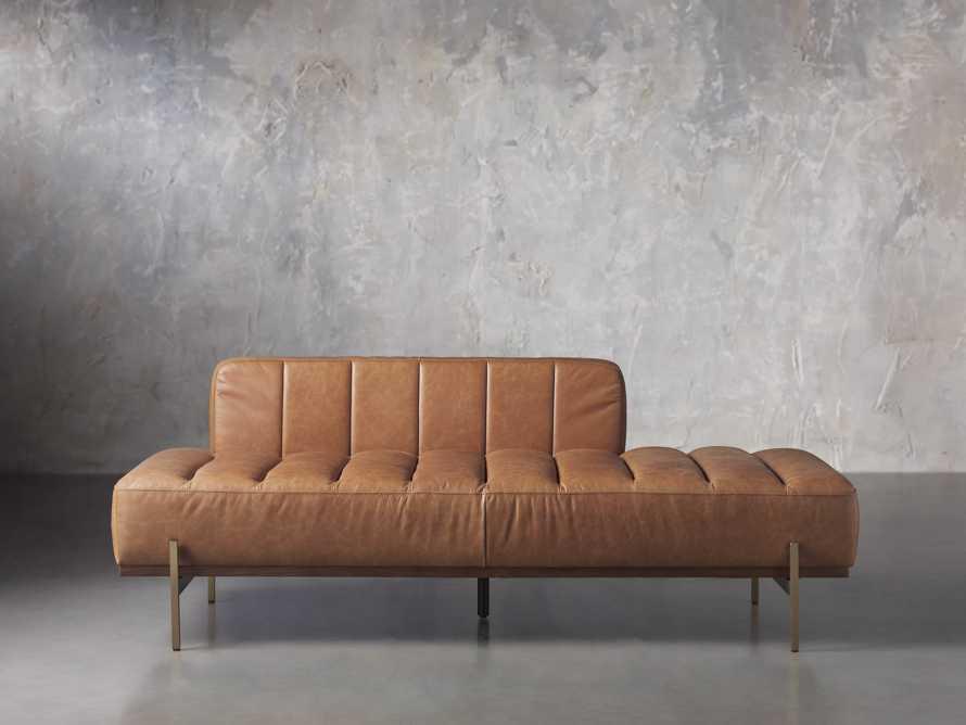 """Lansing Leather 77"""" Daybd in Metro Brown, slide 2 of 8"""