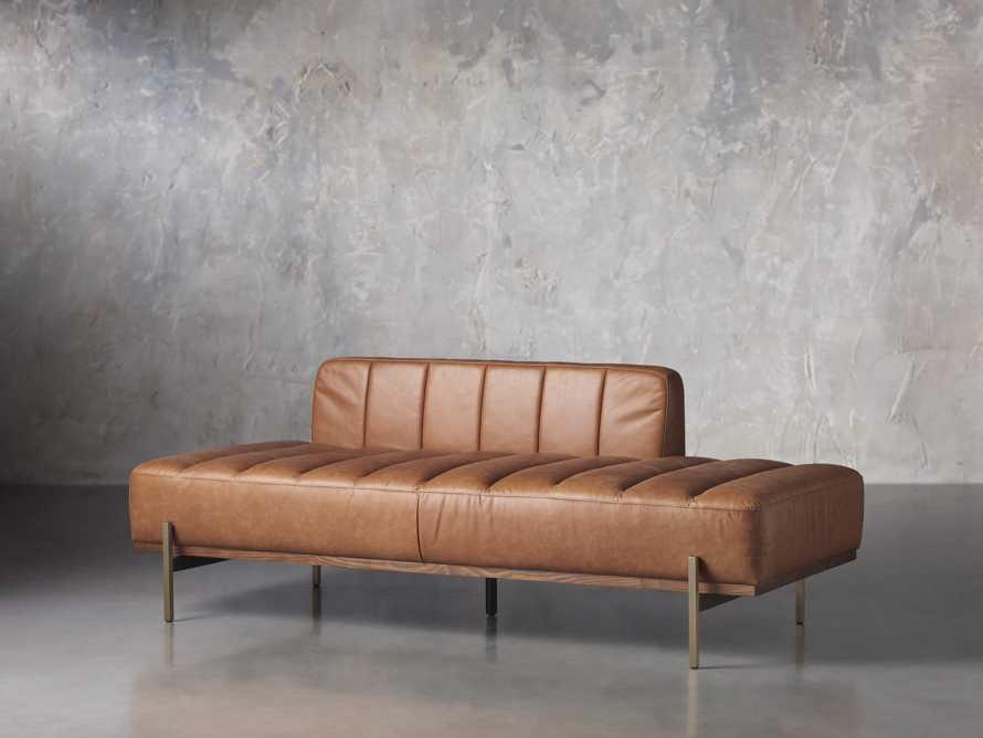 """Lansing Leather 77"""" Daybd in Metro Brown, slide 3 of 8"""