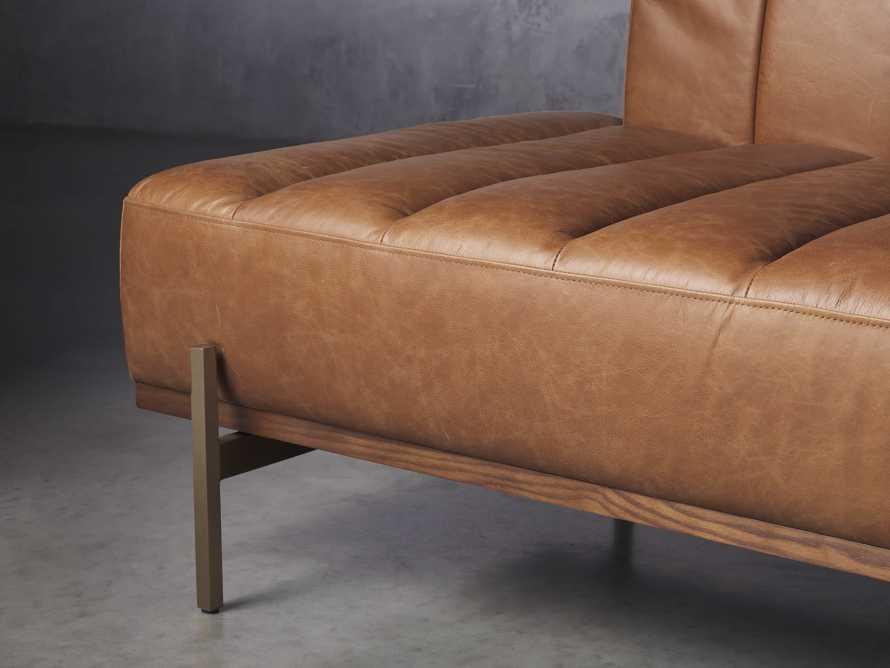"""Lansing Leather 77"""" Daybd in Metro Brown, slide 6 of 8"""