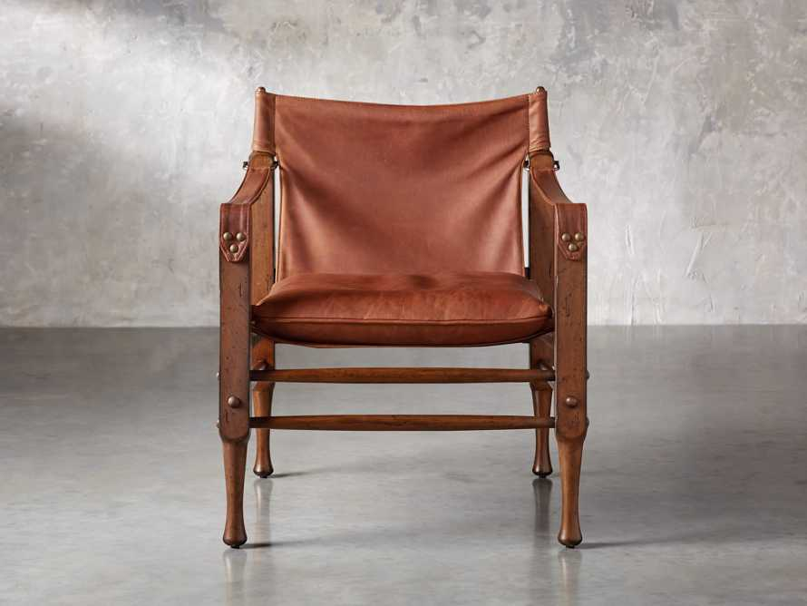 "Safari Leather 26"" Chair, slide 2 of 10"