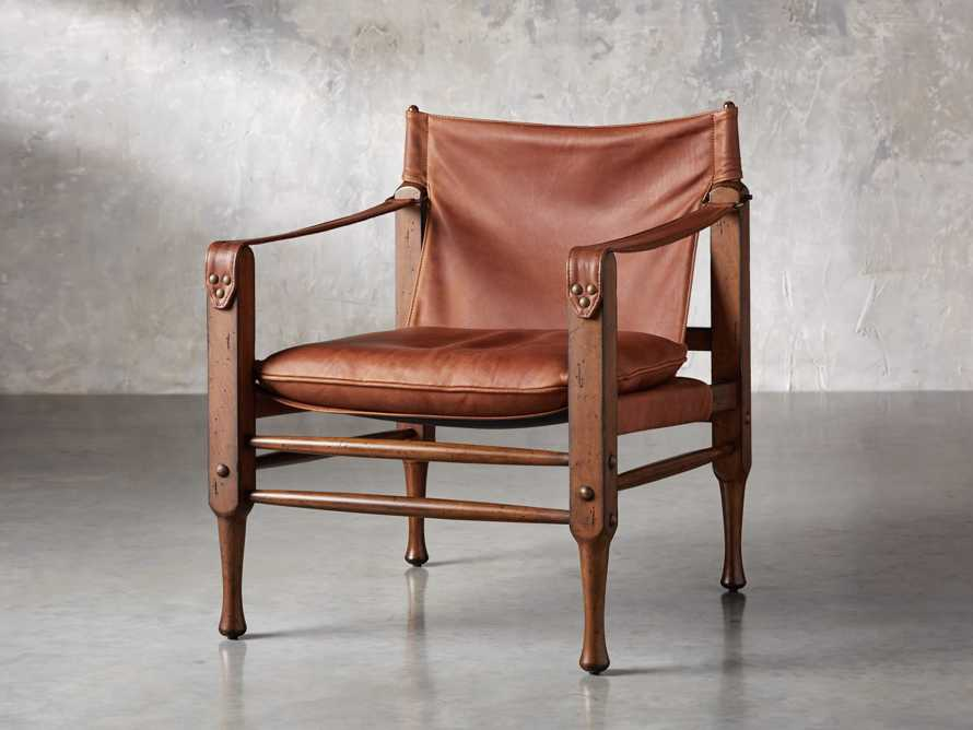 "Safari Leather 26"" Chair, slide 3 of 10"