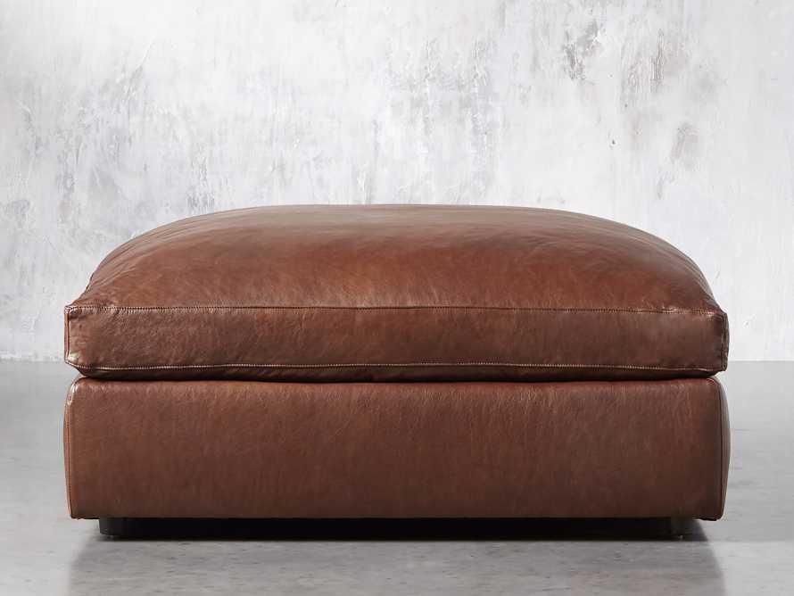 "Kipton Leather 44"" Ottoman, slide 1 of 6"