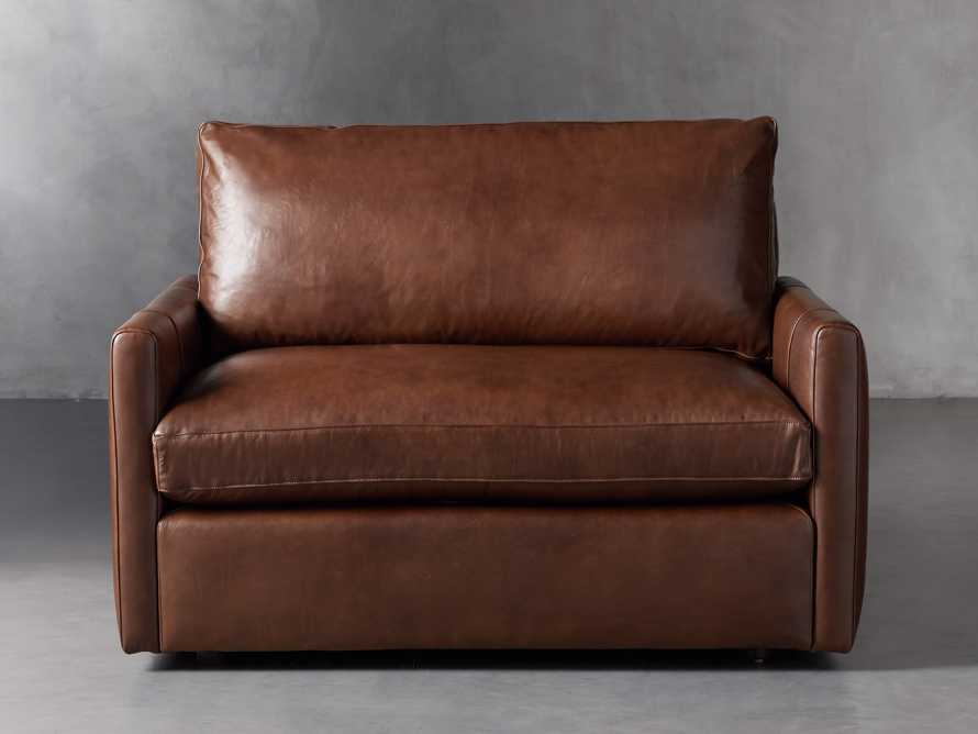 "Kipton Leather 51"" Chair, slide 1 of 8"