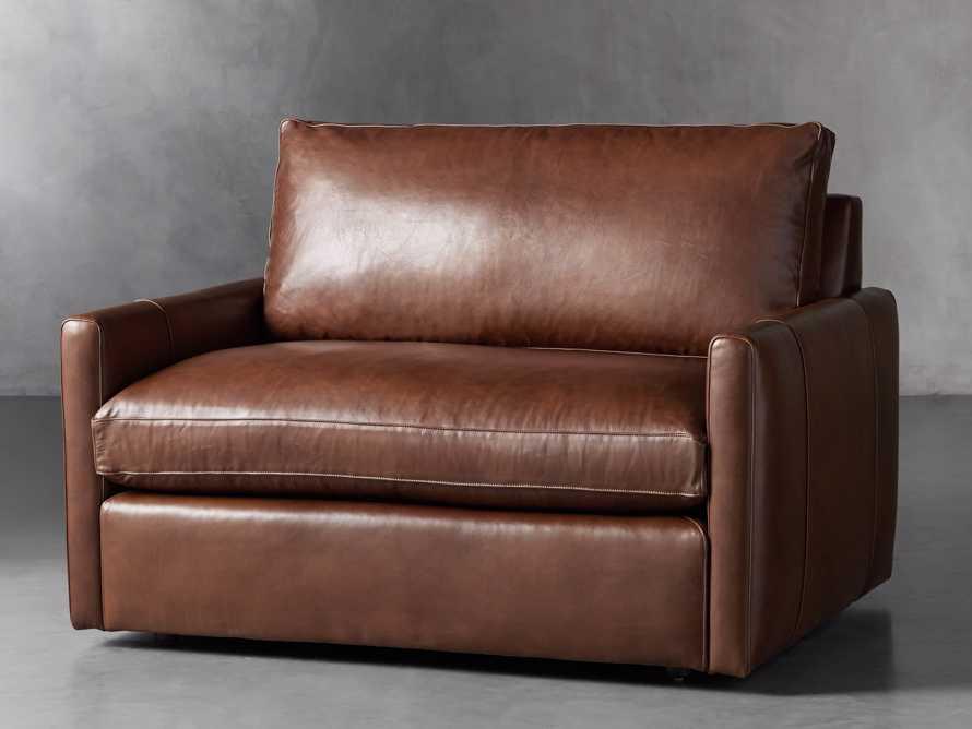 "Kipton Leather 51"" Chair, slide 2 of 8"