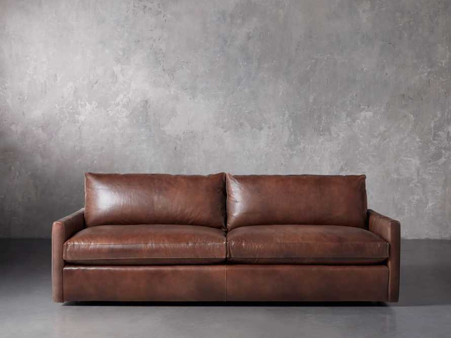 "Kipton Leather 94"" Sofa, slide 2 of 10"