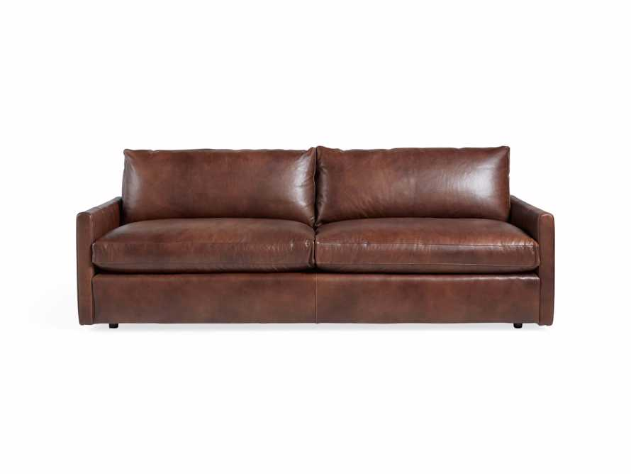 "Kipton Leather 94"" Sofa, slide 3 of 10"