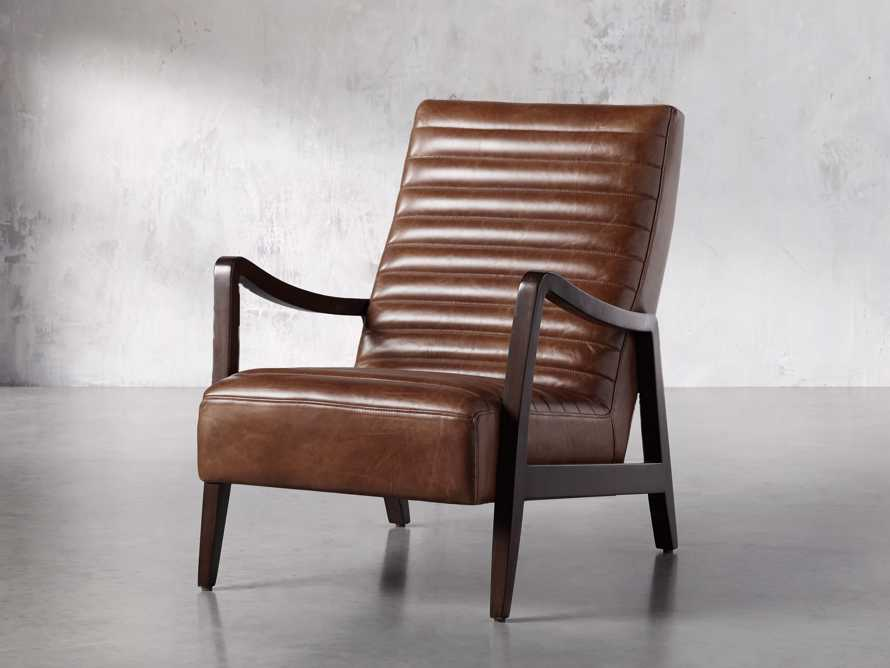 "Pryor Leather 27"" Chair in Momento Token, slide 2 of 10"