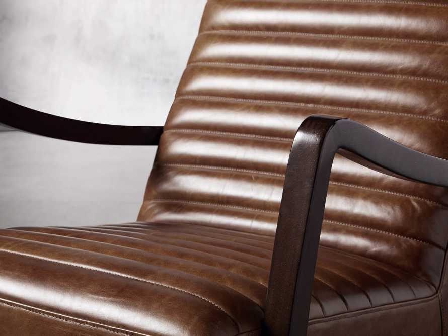 "Pryor Leather 27"" Chair in Momento Token, slide 5 of 10"