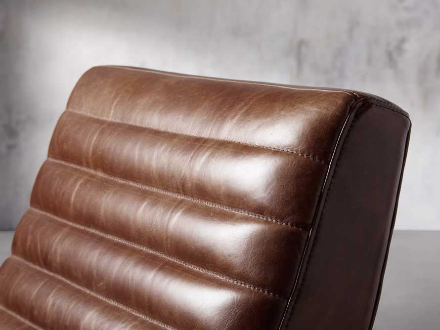 "Pryor Leather 27"" Chair in Momento Token, slide 7 of 10"