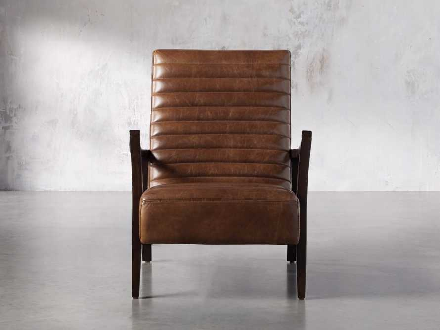 "Pryor Leather 27"" Chair in Momento Token, slide 1 of 10"