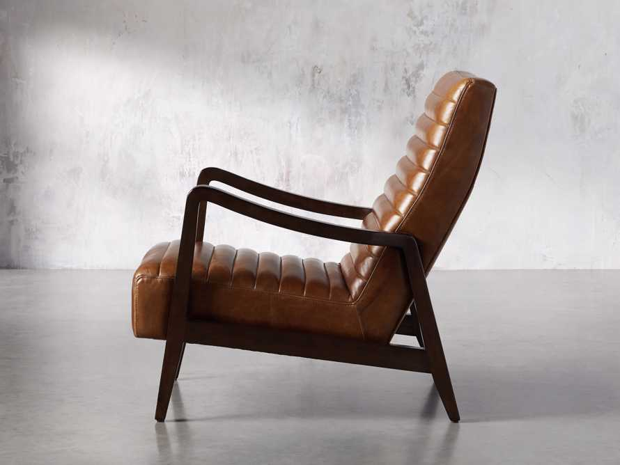 "Pryor Leather 27"" Chair in Momento Token, slide 3 of 10"