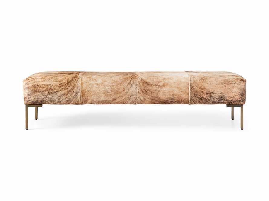 "Tilton Leather 70"" Bench in Blonde Brindle Hair on Hide, slide 5 of 5"