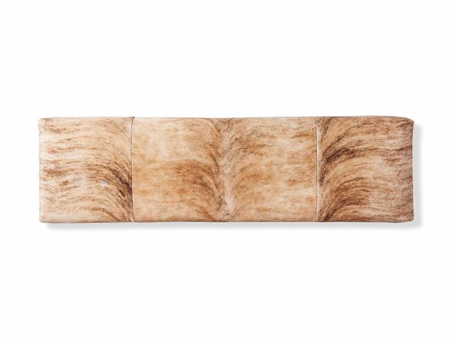 "Tilton Leather 70"" Bench in Blonde Brindle Hair on Hide, slide 4 of 5"