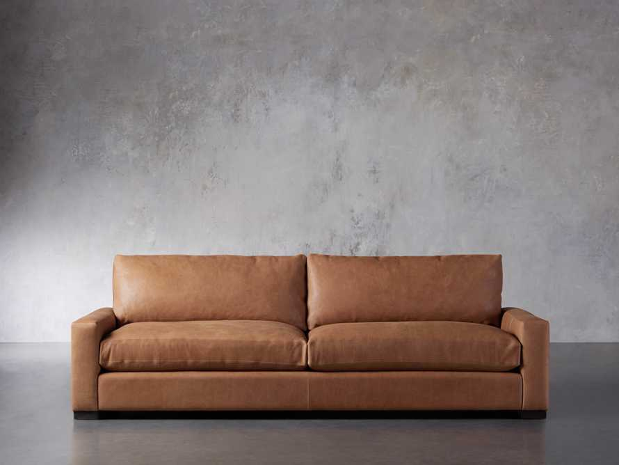 """Remington Deep Leather 108"""" Sofa (2/2) (With Springs), slide 2 of 8"""