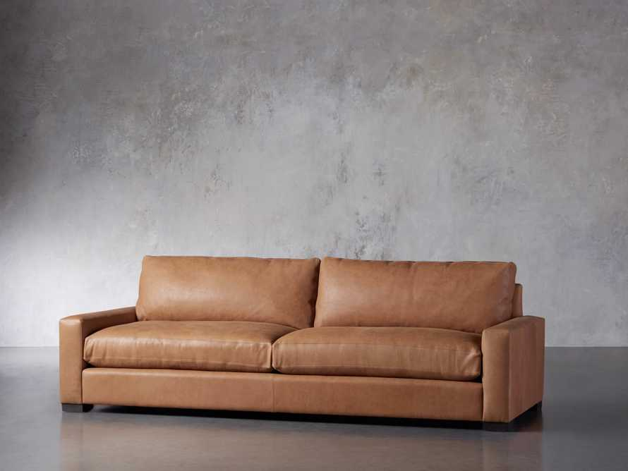 """Remington Deep Leather 108"""" Sofa (2/2) (With Springs), slide 3 of 8"""