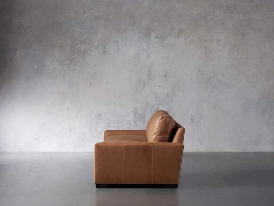 """Remington Deep Leather 108"""" Sofa (2/2) (With Springs), slide 4 of 8"""