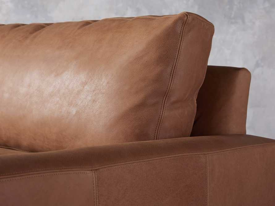 """Remington Deep Leather 108"""" Sofa (2/2) (With Springs), slide 6 of 8"""