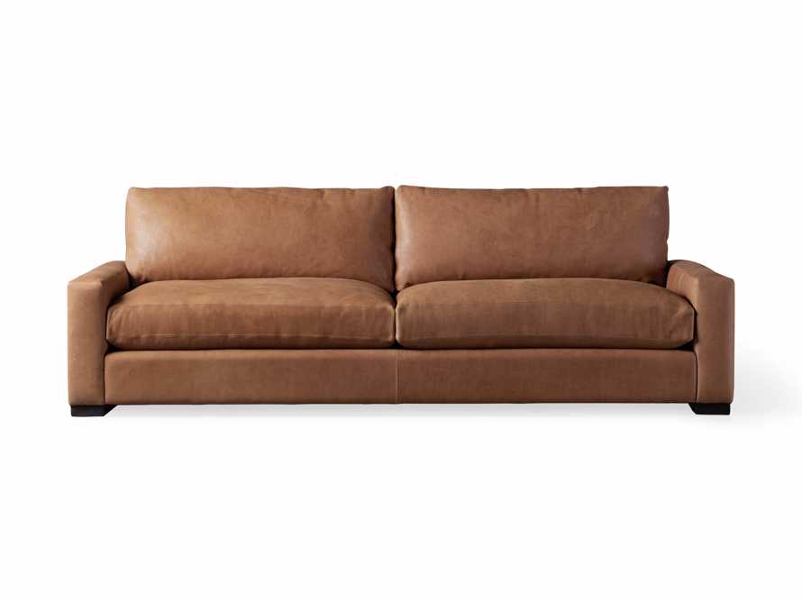 """Remington Deep Leather 108"""" Sofa (2/2) (With Springs), slide 7 of 8"""