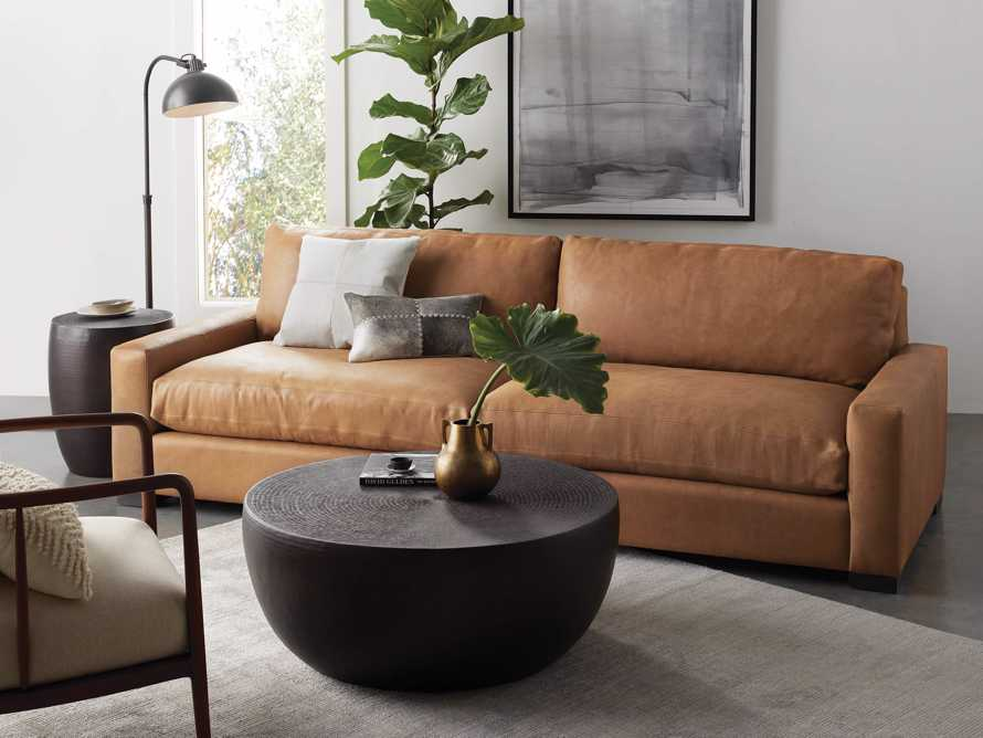 Remington Leather Sofa Arhaus, Camel Leather Sofa