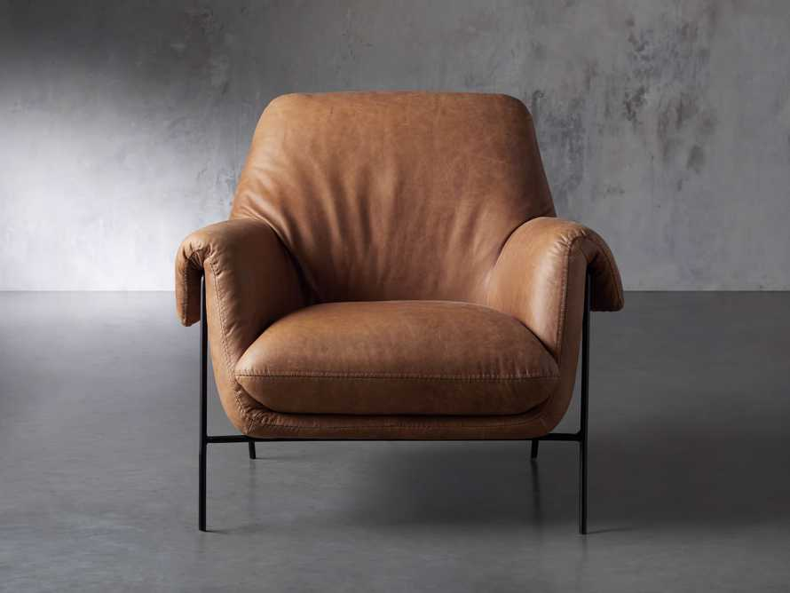 """Engles Leather 35"""" Chair in Saddlebag Coin, slide 2 of 13"""