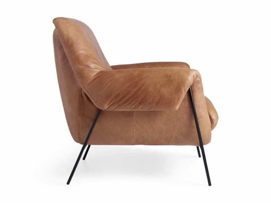 """Engles Leather 35"""" Chair in Saddlebag Coin, slide 13 of 13"""