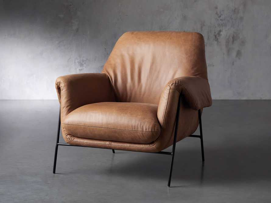"""Engles Leather 35"""" Chair in Saddlebag Coin, slide 3 of 13"""