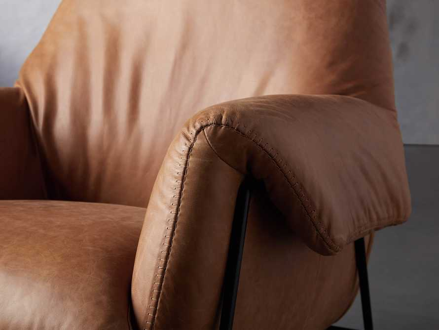 """Engles Leather 35"""" Chair in Saddlebag Coin, slide 6 of 13"""